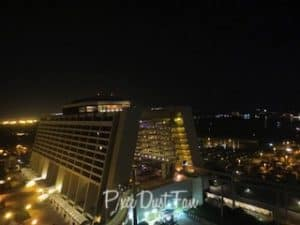 Disney's Contemporary Resort at night