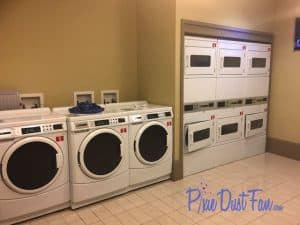 Laundry room at Bay Lake Tower Walt Disney World